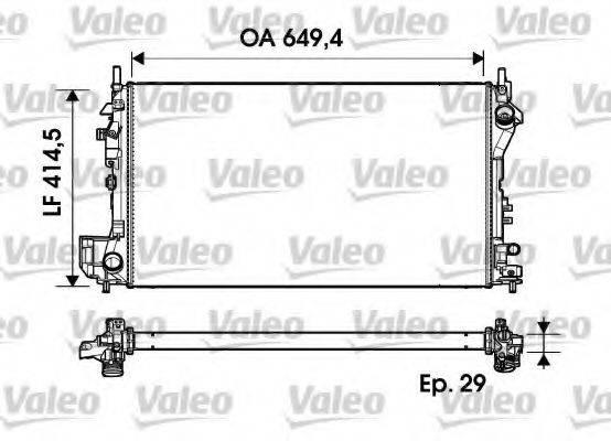 Радиатор, охлаждение двигателя VALEO 734302