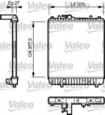 Радиатор, охлаждение двигателя VALEO 734330