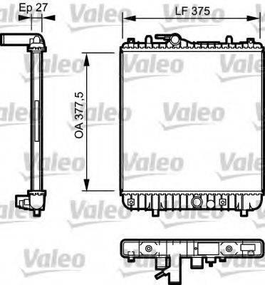 Радиатор, охлаждение двигателя VALEO 734331