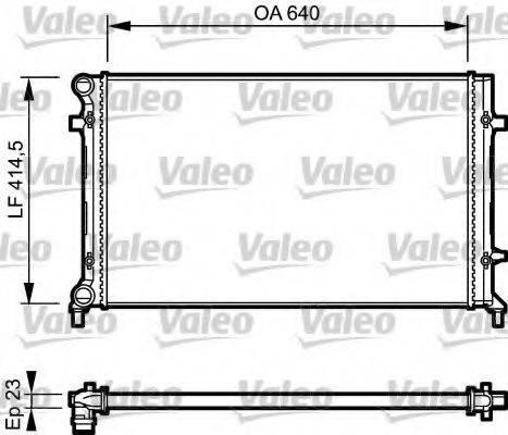 Радиатор, охлаждение двигателя VALEO 734332