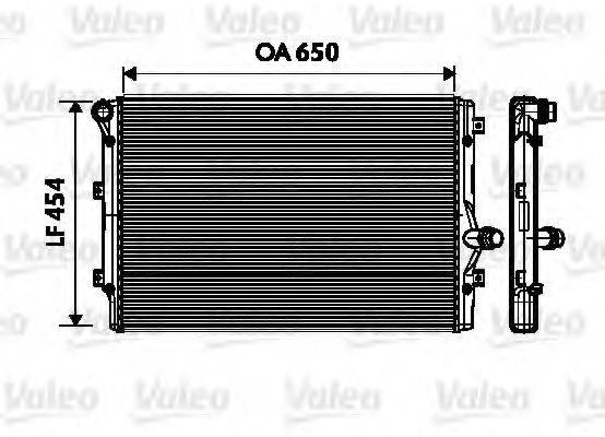 Радиатор, охлаждение двигателя VALEO 734333
