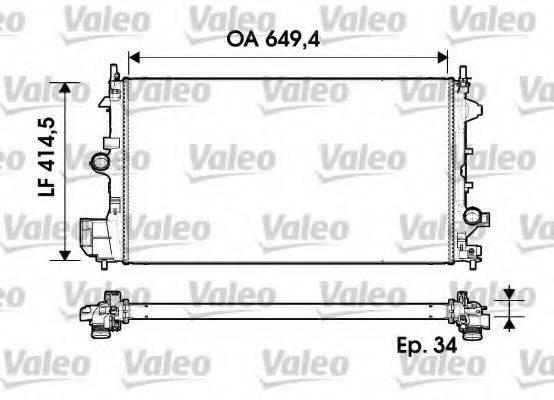 Радиатор, охлаждение двигателя VALEO 734339