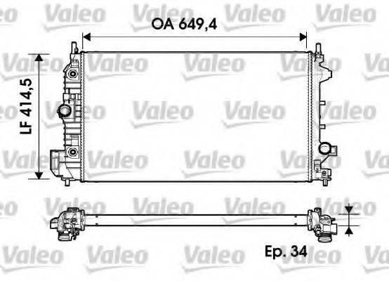 Радиатор, охлаждение двигателя VALEO 734345