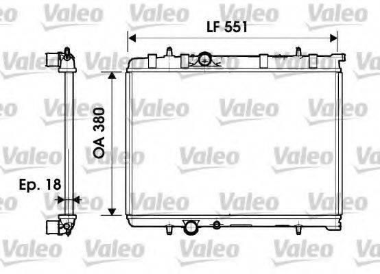 Радиатор, охлаждение двигателя VALEO 734346