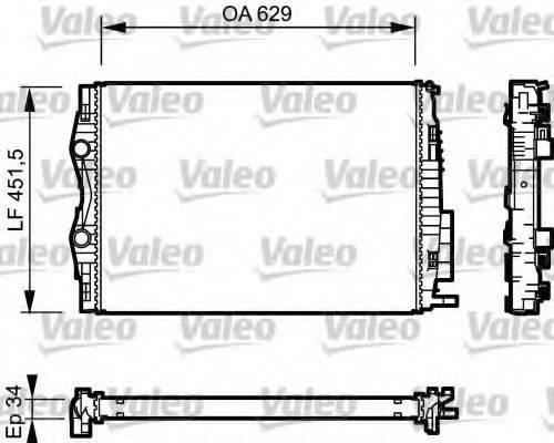 Радиатор, охлаждение двигателя VALEO 734438