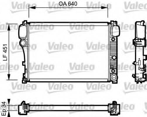 Радиатор, охлаждение двигателя VALEO 734447