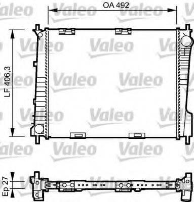 Радиатор, охлаждение двигателя VALEO 734462