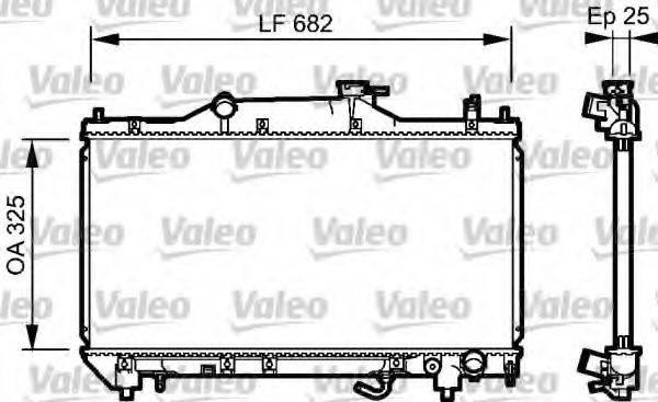Радиатор, охлаждение двигателя VALEO 734491
