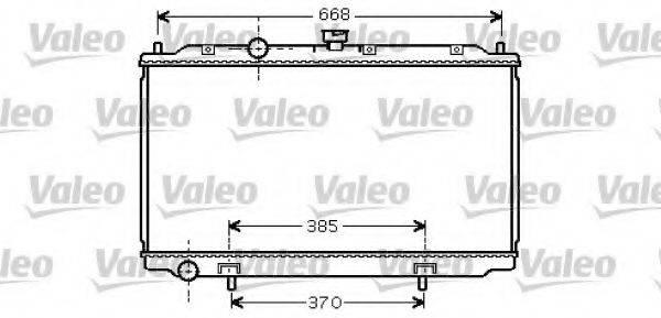 Радиатор, охлаждение двигателя VALEO 734737