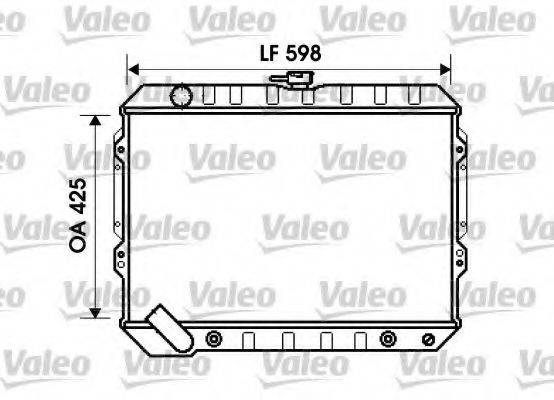 Радиатор, охлаждение двигателя VALEO 734809