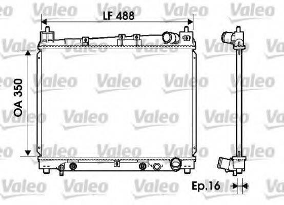 Радиатор, охлаждение двигателя VALEO 734841