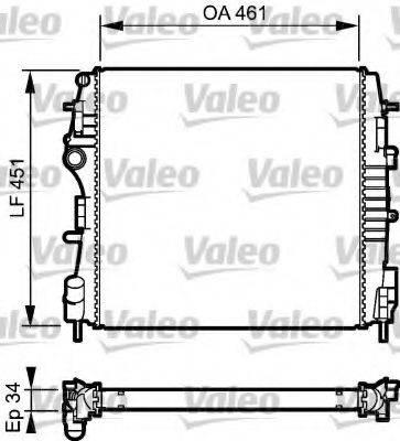 Радиатор, охлаждение двигателя VALEO 734922