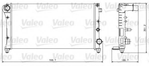 Радиатор, охлаждение двигателя VALEO 734924