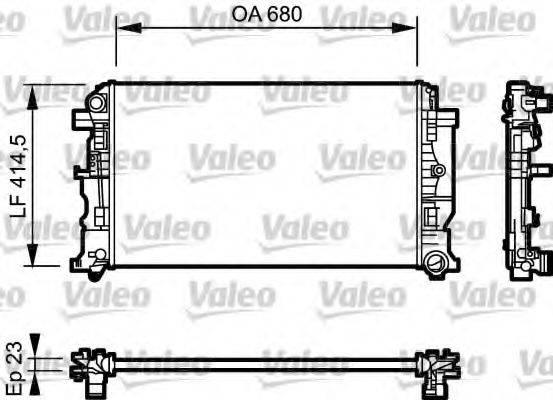 Радиатор, охлаждение двигателя VALEO 734926