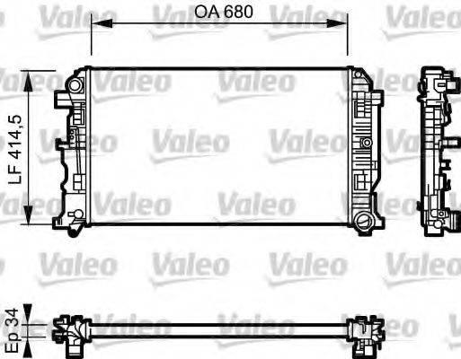 Радиатор, охлаждение двигателя VALEO 734928