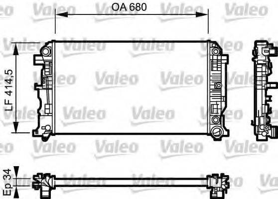 Радиатор, охлаждение двигателя VALEO 734929