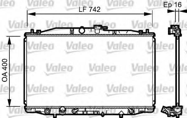 Радиатор, охлаждение двигателя VALEO 735049
