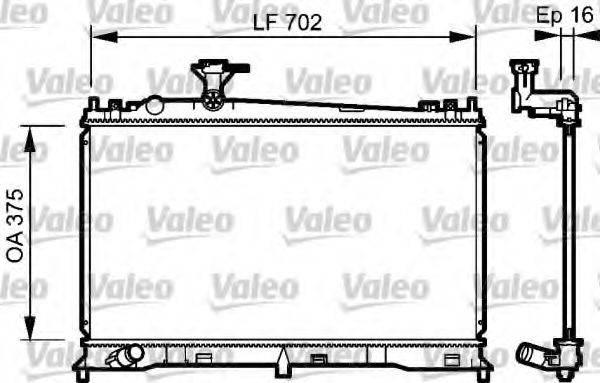 Радиатор, охлаждение двигателя VALEO 735053