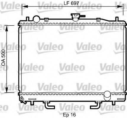 Радиатор, охлаждение двигателя VALEO 735059