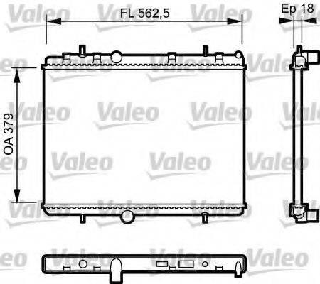 Радиатор, охлаждение двигателя VALEO 735091