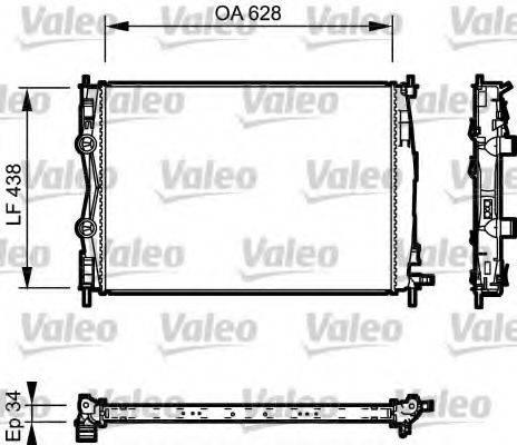 Радиатор, охлаждение двигателя VALEO 735115