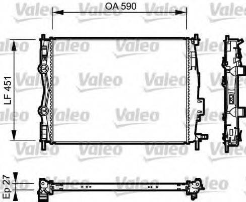 Радиатор, охлаждение двигателя VALEO 735116