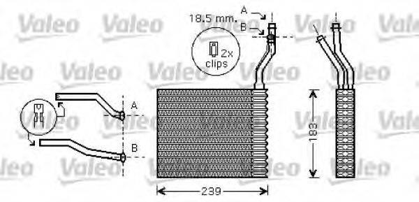 VALEO 812359 Теплообменник, отопление салона