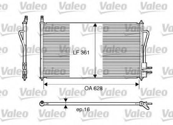 VALEO 817493 Конденсатор, кондиционер