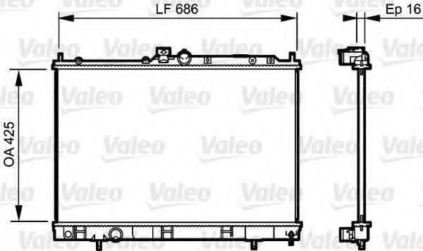Радиатор, охлаждение двигателя VALEO 735201