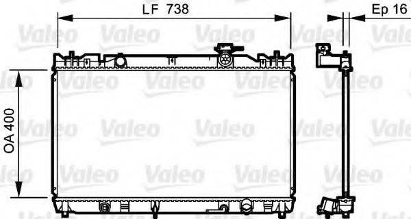 Радиатор, охлаждение двигателя VALEO 735214