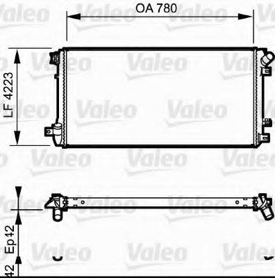 Радиатор, охлаждение двигателя VALEO 735112