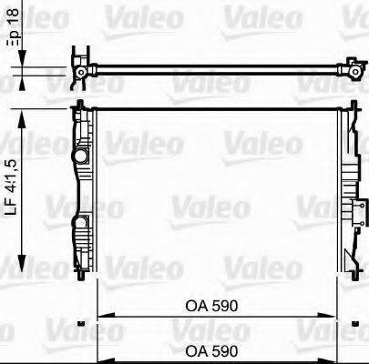 Радиатор, охлаждение двигателя VALEO 735118