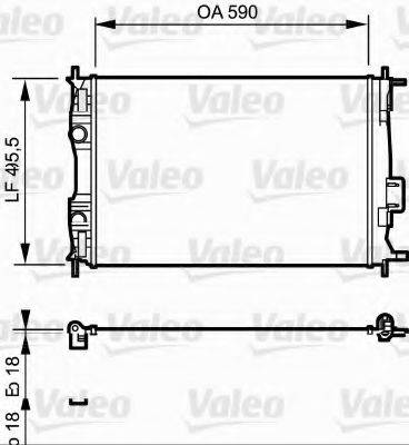 Радиатор, охлаждение двигателя VALEO 735119