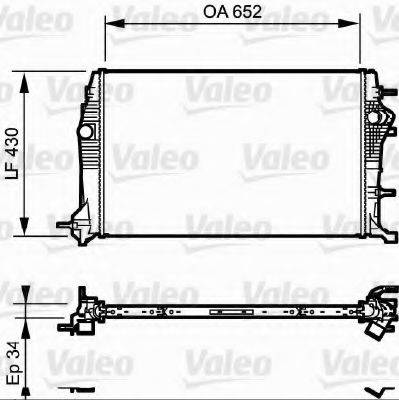 Радиатор, охлаждение двигателя VALEO 735181