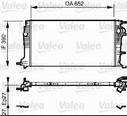 Радиатор, охлаждение двигателя VALEO 735182