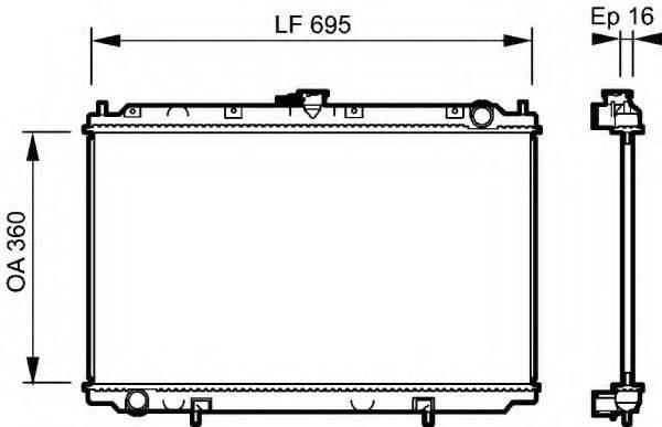 Радиатор, охлаждение двигателя VALEO 732528