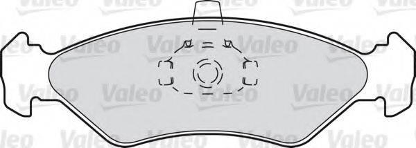 VALEO 598171 Комплект тормозных колодок, дисковый тормоз