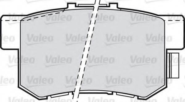 VALEO 598911 Комплект тормозных колодок, дисковый тормоз