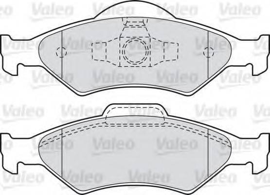VALEO 598563 Комплект тормозных колодок, дисковый тормоз