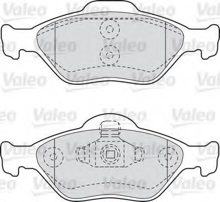 VALEO 598564 Комплект тормозных колодок, дисковый тормоз