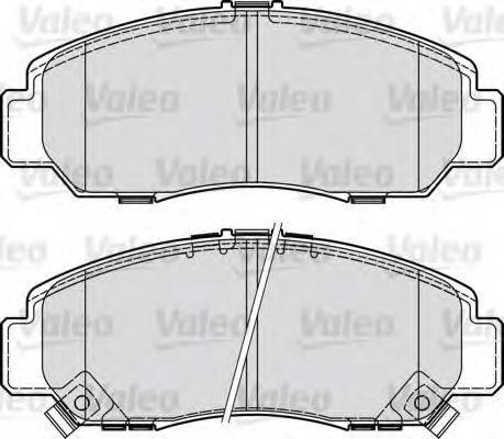 VALEO 598887 Комплект тормозных колодок, дисковый тормоз