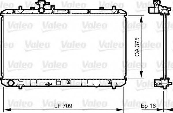 Радиатор, охлаждение двигателя VALEO 735407