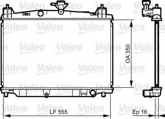 Радиатор, охлаждение двигателя VALEO 735416
