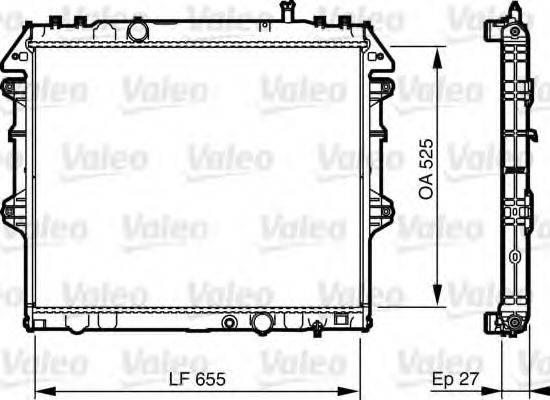 Радиатор, охлаждение двигателя VALEO 735442