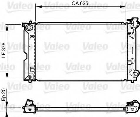 Радиатор, охлаждение двигателя VALEO 735567