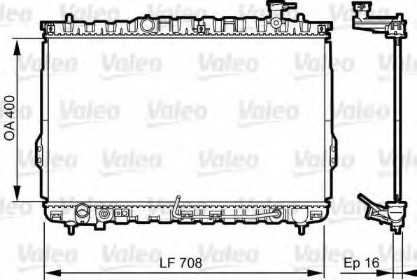 Радиатор, охлаждение двигателя VALEO 734909