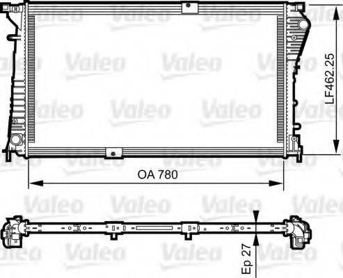 Радиатор, охлаждение двигателя VALEO 734931