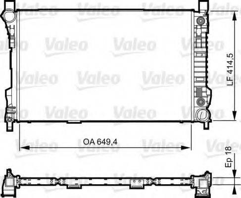 Радиатор, охлаждение двигателя VALEO 735144