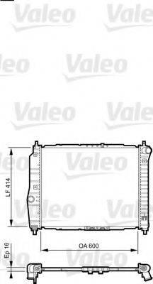 Радиатор, охлаждение двигателя VALEO 735158