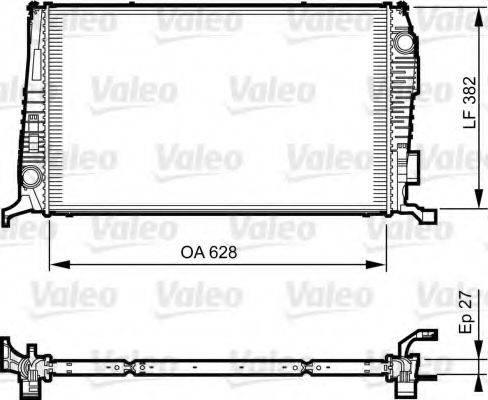 Радиатор, охлаждение двигателя VALEO 735279